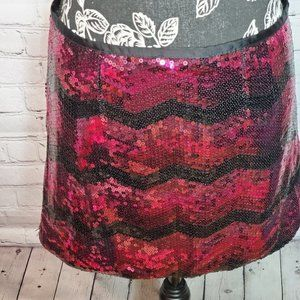 Poof Couture sequined mini skirt with zipper